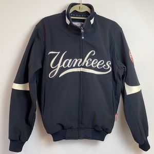 New York NY Yankees Majestic Therma Base Fleece Lined Navy Blue Dugout Jacket